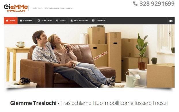 Giemme Traslochi - realizzazione sito web